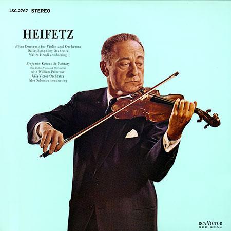 Pfeiffer, Chase & Heifetz - Rozsa: Violin Concerto/ Benjamin: Romantic Fantasy/ Heifetz, violin 1