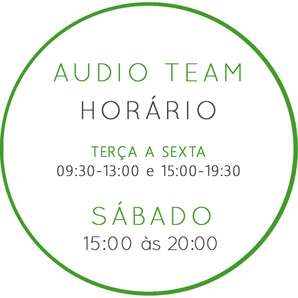 Novo Horário da Audio Team 1