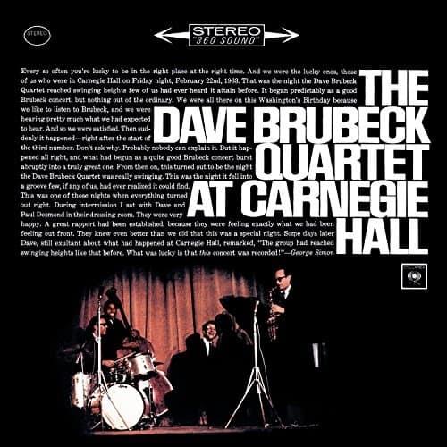 The Dave Brubeck Quartet At Carnegie Hall 1